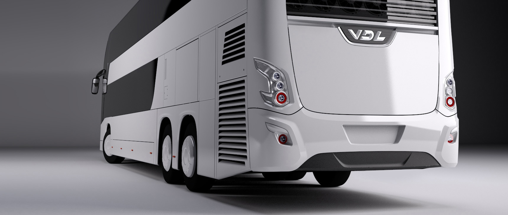 VDL Futura bus with Lite-wire headlights and rear lights