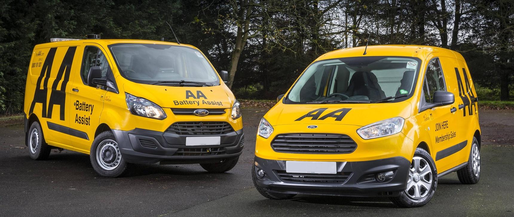 AA breakdown and Battery Assist vans